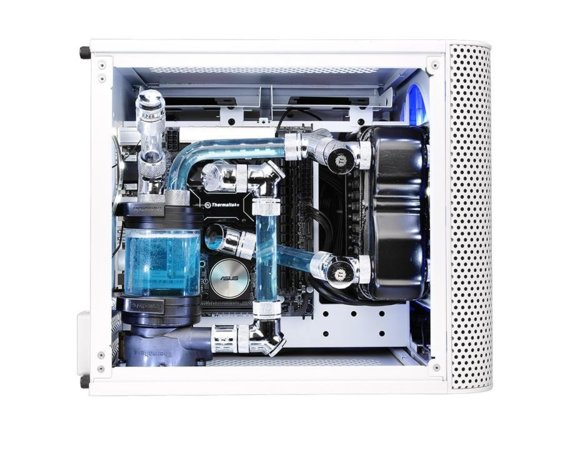Thermaltake Obudowa Core V1 MiniITX Window - Snow Edition