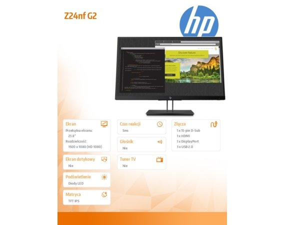 HP Inc. Monitor Z24nf G2 1JS07A4