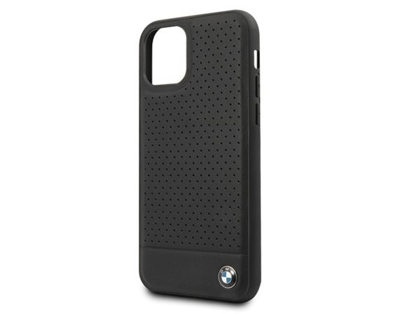 BMW Etui hardcase BMHCN61PEBOKB iPhone 11 czarny Signature Perforated