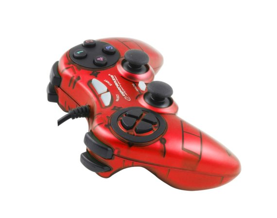 Esperanza GAMEPAD PC USB FIGHTER CZERWONY