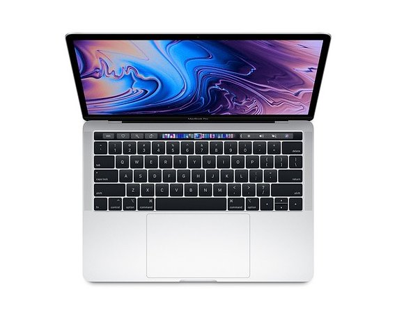 Apple MacBook Pro 13 Touch Bar, 2.4GHz quad-core 8th i5/8GB/256GB SSD/Iris Plus Graphics 655 - Silver