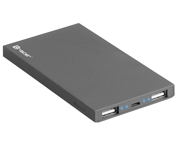 Tracer Power bank 4000 mAh polymer dark grey