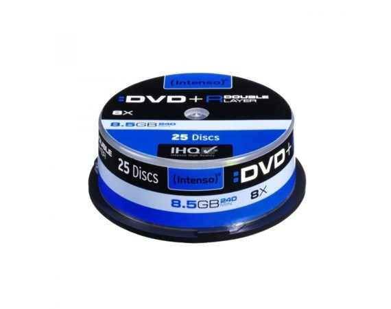 Intenso Płyty DVD+R 8x 8,5GB Double Layer (25 Cake)