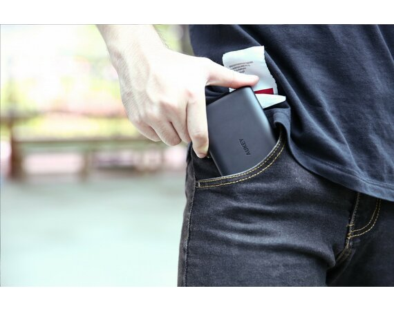 AUKEY PB-XN5 Black ultraszybki Power Bank | 5000 mAh | 3xUSB | 5.4A | AiPower | kabel micro USB