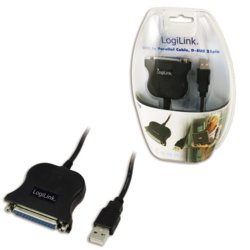 LogiLink Adapter USB do DSUB-25pin, 1,5m