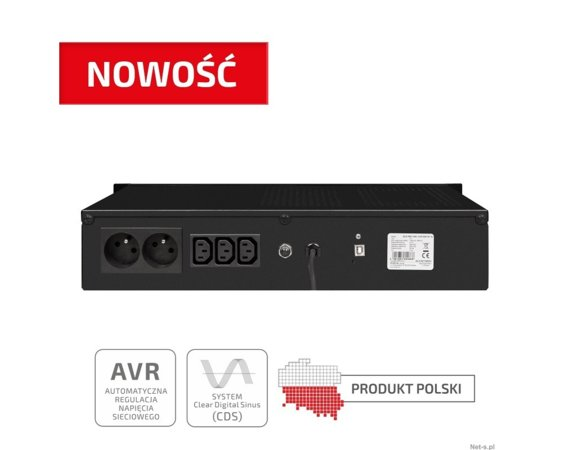 "EVER UPS  ECO Pro 1200 AVR CDS 19"" 2U"