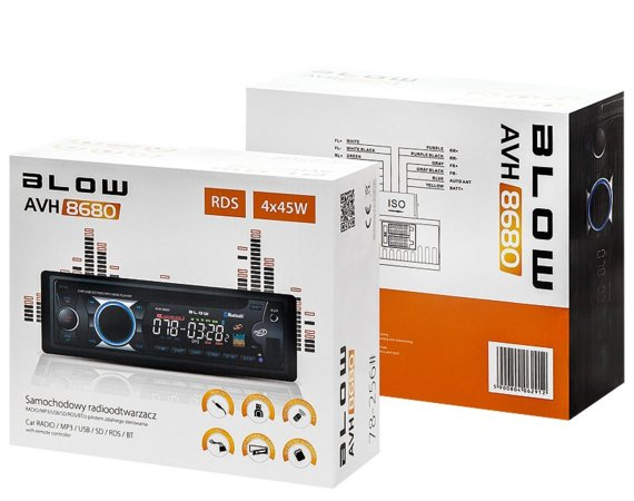 BLOW RADIO AVH-8680 MP3 + PILOT + BLUETOOTH