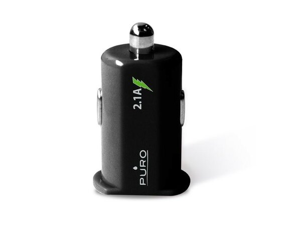 PURO Mini Car Charger 2xUSB 2.1 A czarna