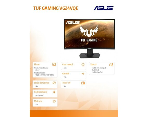 Asus Monitor 23.6 cale VG24VQE