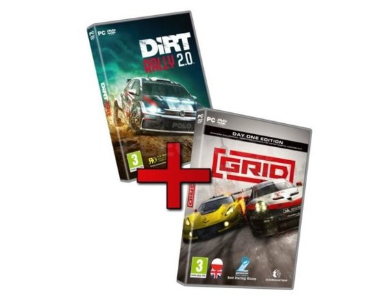 KOCH Zestaw gier PC Racing Pack GRID & DiRT Rally 2.0