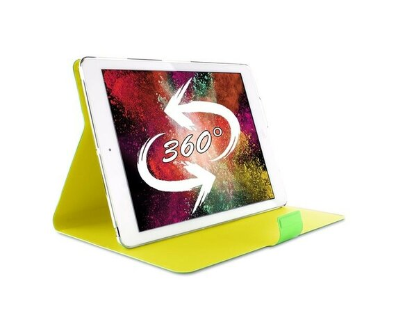PURO Bi-Color 360° Booklet Case - Etui iPad Air (zielony/żółty)