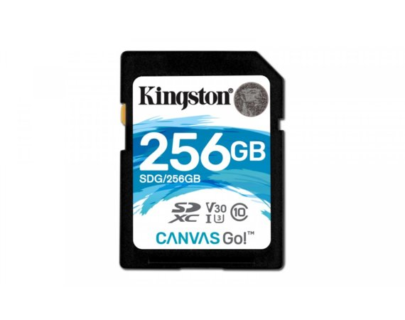 Kingston SD 256GB Canvas Go 90/45MB/s CL10 U3 V30
