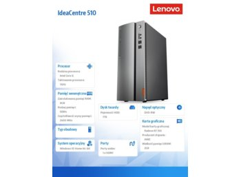 Lenovo IdeaCentre 510-15IKL 90G800B4PB W10HOME i5-7400/8GB/1TB/R7 350/2YRS CI