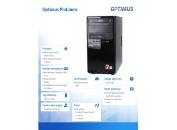 OPTIMUS Platinum GH110T i3-7100/4GB/1TB/DVD/W10Home
