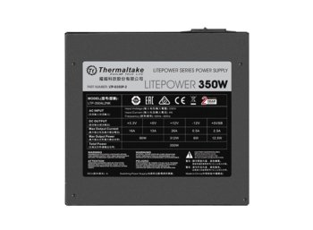 Thermaltake Litepower II Black 350W (Active PFC, 120mm)