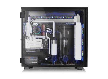 Thermaltake View 91 RGB Riing Tempered Glass XL-ATX Super Tower - Black