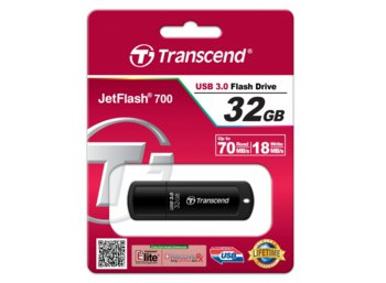 Transcend JETFLASH 700 32GB USB 3.0 BLACK 85/15 MB/s