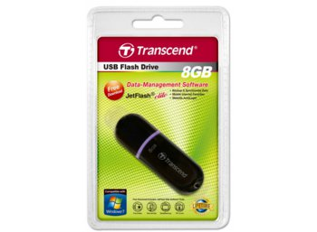 Transcend JETFLASH 300 8GB USB2.0 BLACK