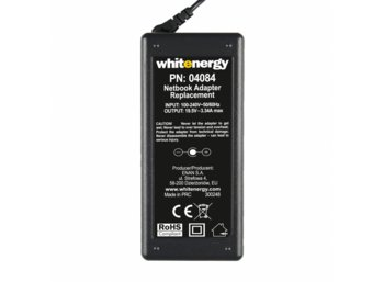 Whitenergy Zasilacz 19.5V | 3.34A 65W wtyk 7.4*5.0mm + pin Dell 04084
