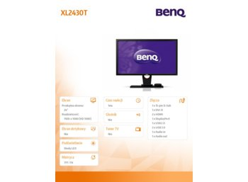 Benq 24'' XL2430T LED FHD,144Hz,350n,2xHDMI,ha