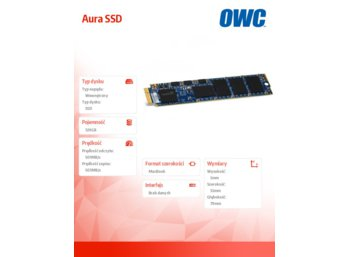 OWC Aura SSD 120GB Macbook Air 2012 (501/503 MB/s, 60k IOPS, Async-NAND)