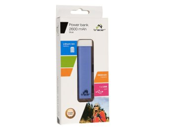 Tracer Power bank 2600 mAh niebieski