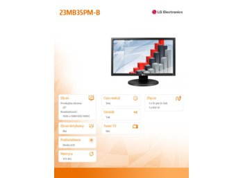 LG Electronics Monitor 23 23MB35PM-B  LED D-sub/DVI/Pivot/speakers