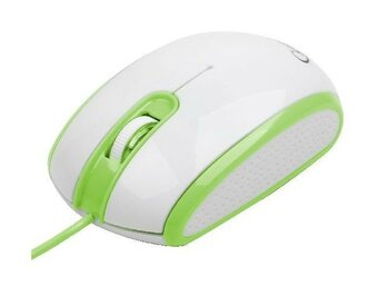 Gembird Mysz OPTO 1-SCROLL USB (MUS-105-B) Green/White