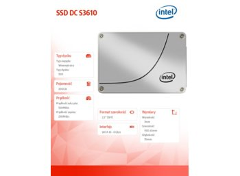 Intel S3610 200GB 2,5'' SSD SATA 6GB/s 20 nm
