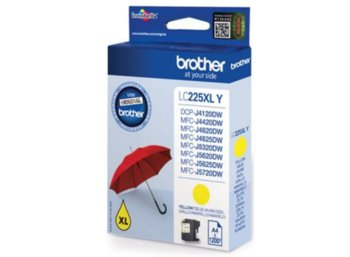 Brother LC-225XLY inkoust yellow, 1200 str