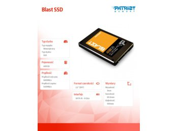 Patriot Blast SSD 480GB SATA 2,5' 560/540 MB/s