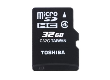 Toshiba microSDHC 32GB class 4 High Speed M102 adapter