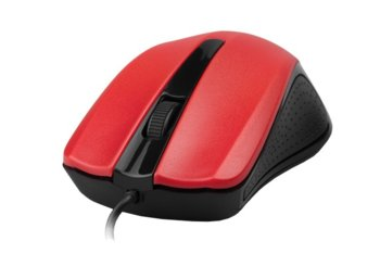 Gembird Mysz OPTO 1-SCROLL USB (MUS-101-R) Black/Red