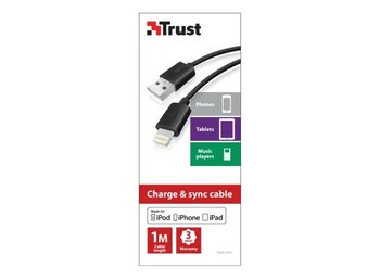 Trust Lightning Cable 1m - black