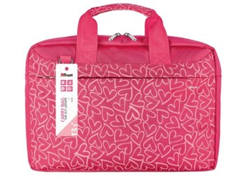 Trust Bari Carry Bag for 13.3 laptops - pink hearts
