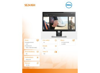 Dell Monitor 24 SE2416H IPS LED Full HD (1920 x 1080) /16:9/VGA/HDMI/3Y PPG