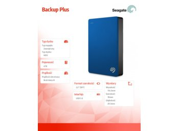 Seagate Backup Plus 4TB 2,5' STDR4000901  blue
