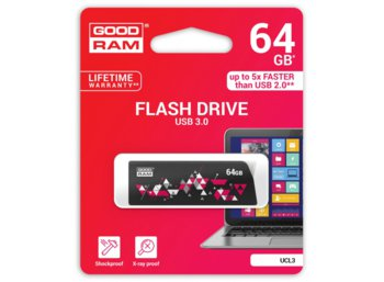 GOODRAM CL!CK  64GB USB 3.0 Black