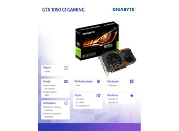 Gigabyte GeForce CUDA GTX 1050 G1 GAMING 4GB GDDR5 128BIT DVI/HDMI