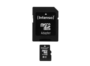 Intenso Micro SDHC 8GB Class 10 + Adapter