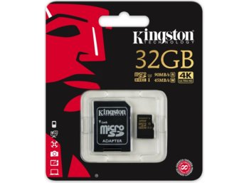 Kingston SDHC 32GB Class10 UHS-I Gold 90/45MB/s + adapter