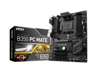 MSI B350 PC MATE AM4 B350 4DDR4 8USB3/M.2 ATX
