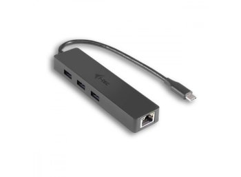 i-tec USB-C Slim 3-port HUB z adapterem Gigabit Ethernet