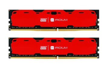 GOODRAM DDR4 IRIDIUM 16GB/2400 (2*8GB)1024*8 Czerwona