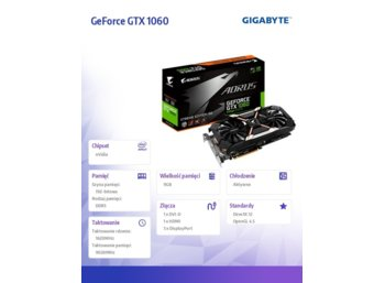 Gigabyte GeForce GTX 1060 X 6GB GD DR5 192BIT DVI-D/HDMI/3DP