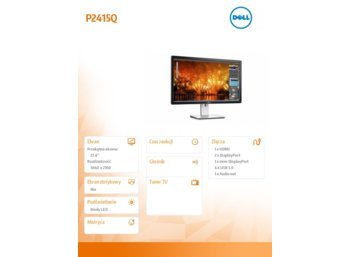 "Dell P2415Q 23,8"" IPS LED UHD 4K (3840x2160) /16:9/HDMI(MHL)/mDP/DP/4xUSB 3.0/3Y PPG"