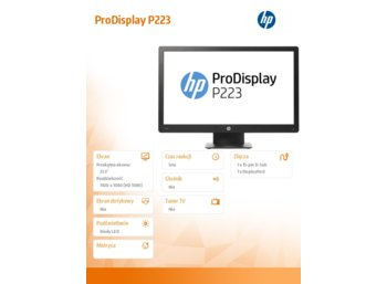HP Inc. 21,5' ProDisplay P223 Monitor X7R61AA