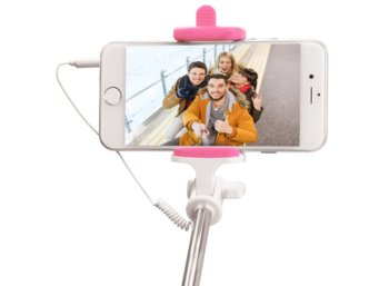 PNY Cable Selfie Stick P-S-WSS001P-RB Pink