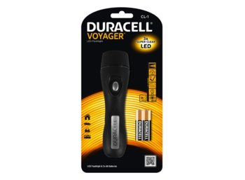 Duracell Latarka LED VOYAGER CL-1, gumowy grip +2x AA