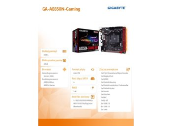 Gigabyte GA-AB350N-Gaming WIFI AM4